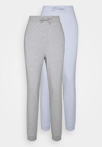 2 PACK - Pantalon de survêtement - mottled light grey/light blue