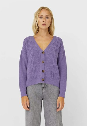 Strickjacke - mauve