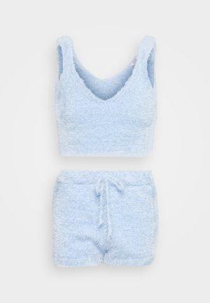 EYELASH TOP AND SHORT SET - Shorts - light blue