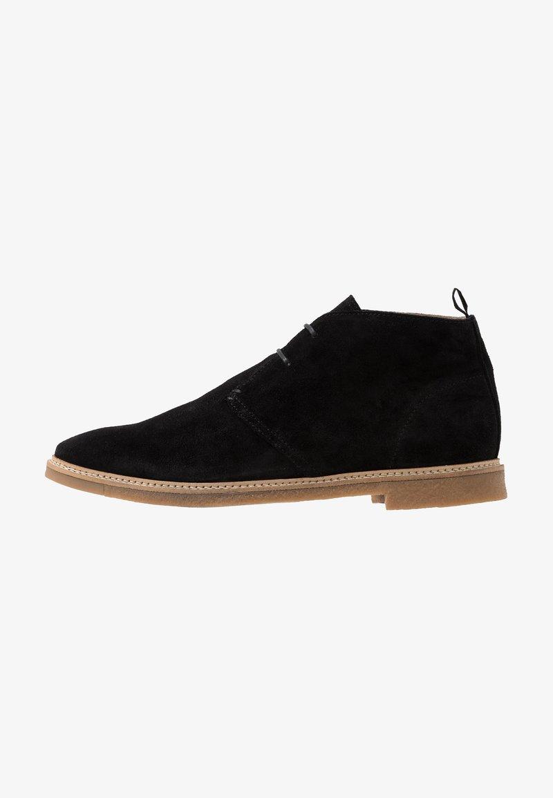 Walk London - DYLAN DESERT BOOT - Casual lace-ups - crut black