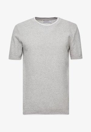 TEXT CREW - T-shirt - bas - light grey
