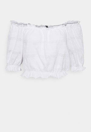 PCTAYLEE CROPPED - Print T-shirt - bright white
