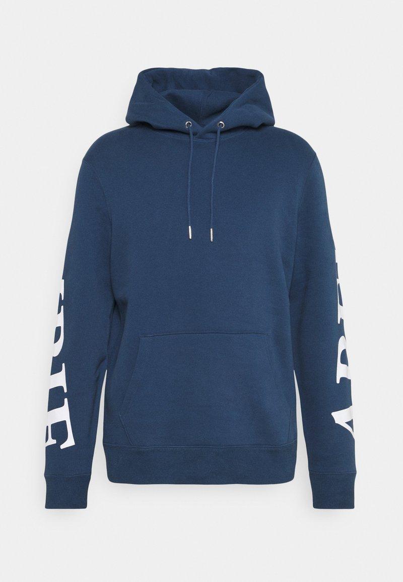 Abercrombie & Fitch - SCALE PRINT LOGO - Sweatshirt - blue