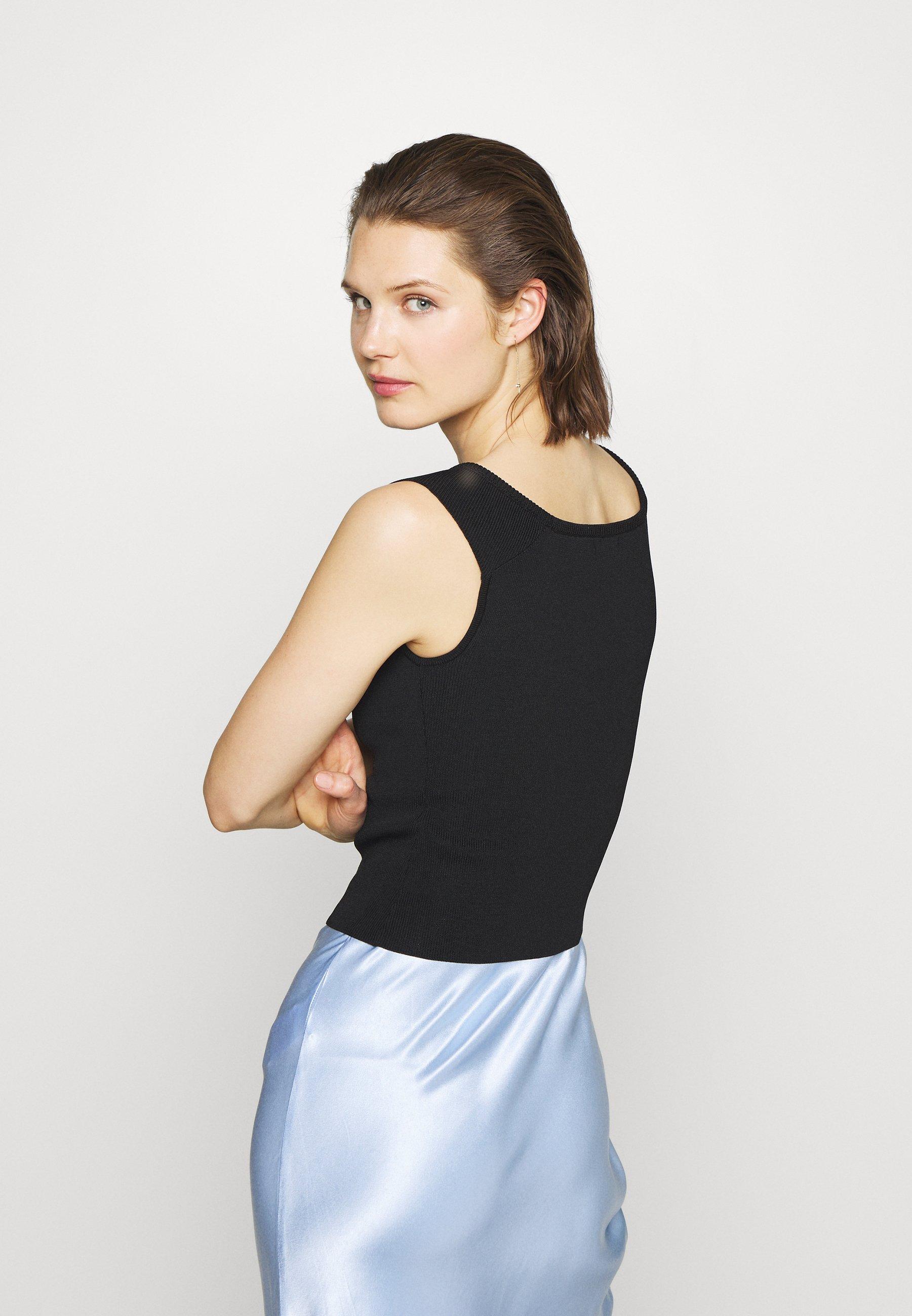 Who What Wear THE OFF THE SHOULDER - Débardeur - black - Tops & T-shirts Femme pA2sg