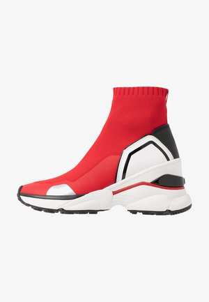 High-top trainers - bright red