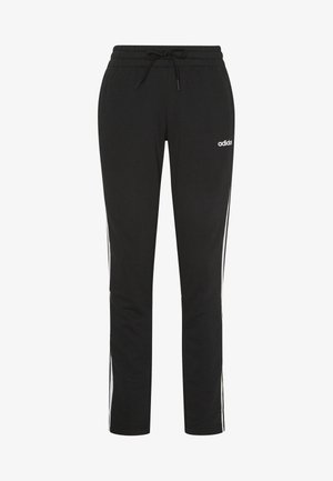 ESSENTIALS 3STRIPES OPEN HEM SPORT PANTS - Pantaloni sportivi - black/white