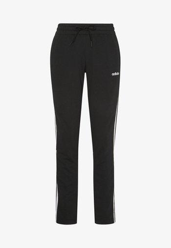 ESSENTIALS 3STRIPES OPEN HEM SPORT PANTS - Pantalones deportivos - black/white