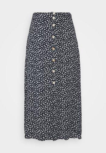 NUCARLY SKIRT - Maxi skirt - black