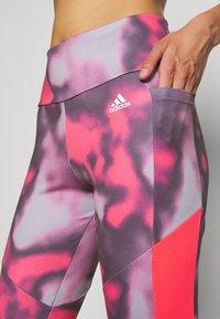 adidas Performance - AEROREADY TRAINING SPORTS - Leggings - pink/white - 3