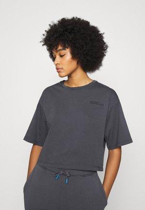 APRIL - Print T-shirt - steel grey