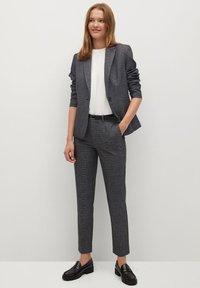 Mango - BORECUAD - Trousers - grey - 1