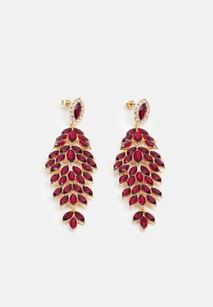 PCLAVINA EARRINGS - Øredobber - red/gold-coloured