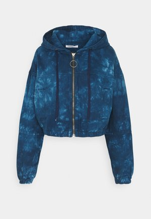 LADIES JACKET TIE DYE - Denim jacket - blue