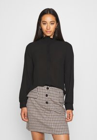Vero Moda - VMZIGGA HIGH NECK SMOCK - Button-down blouse - black - 0
