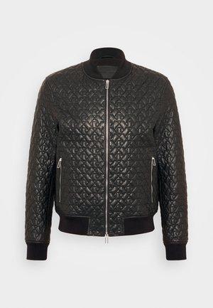 BLOUSON - Kožená bunda - black