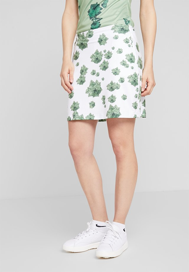 FLOWER SKORT - Sports skirt - mineral green