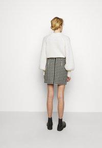 2nd Day - CHARITON CHECK - Mini skirt - black - 2