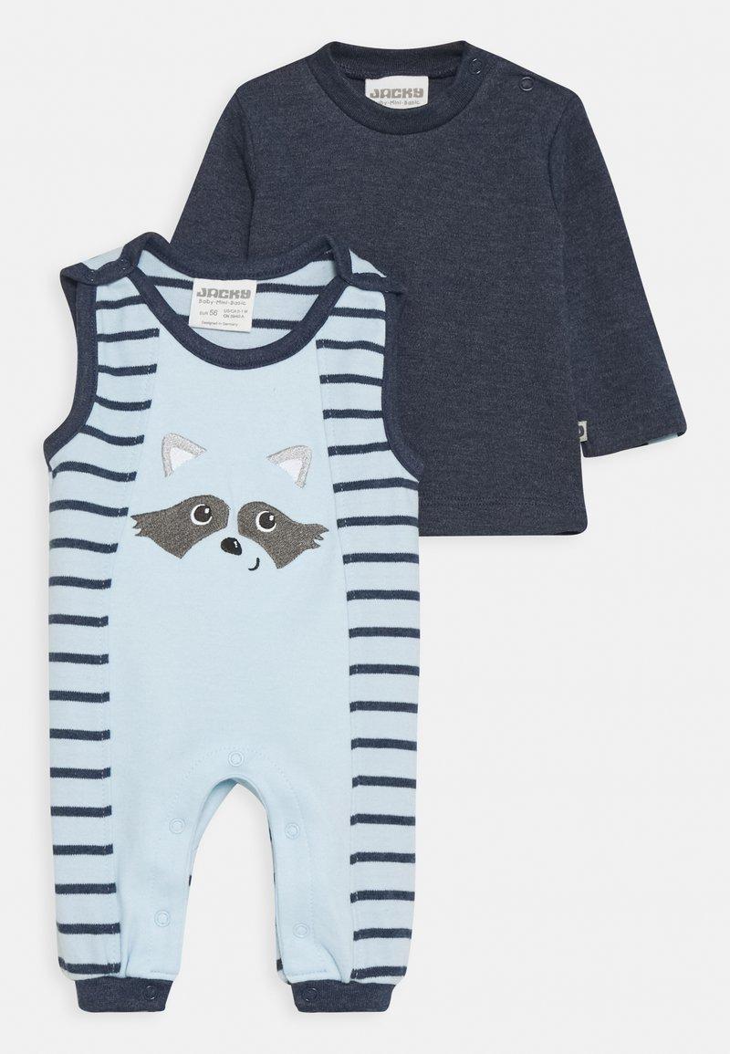 Jacky Baby - NATIVE RACCOON SET - Jumpsuit - blue