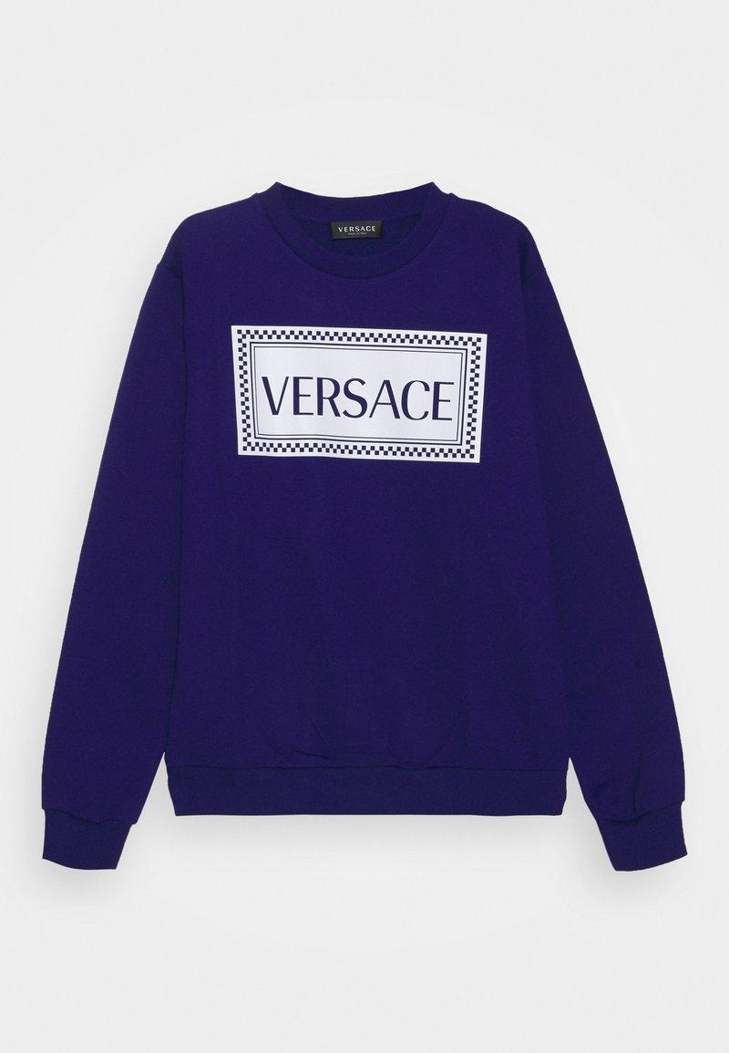 Versace - PRINT LOGO SHOW FULL UNISEX - Mikina - bluette/white