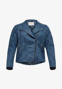 ONLY Carmakoma - CARAVANA  - Faux leather jacket - dark denim - 4
