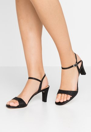 MECHI - Sandaalit nilkkaremmillä - black