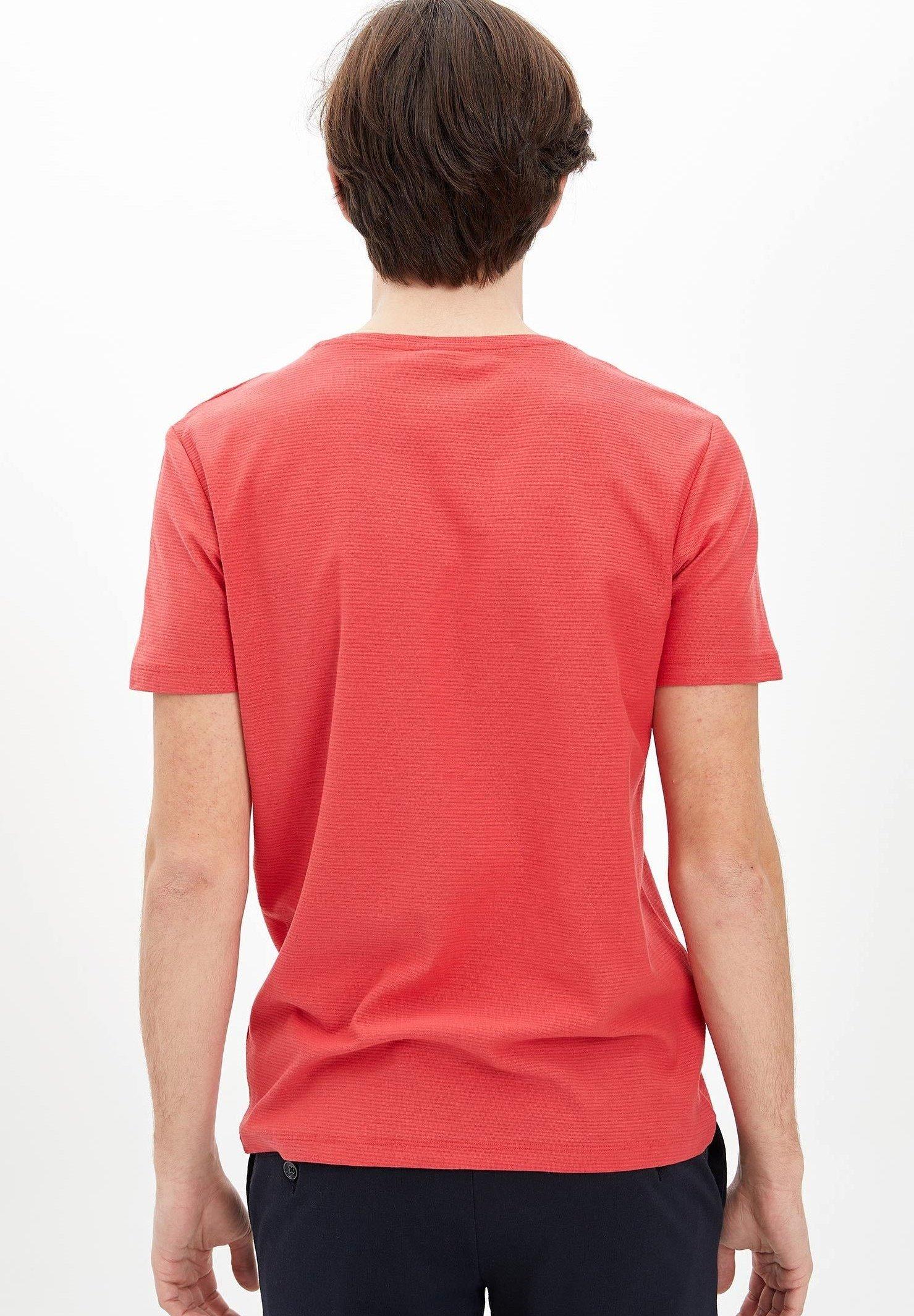 DeFacto Basic T-shirt - red JVWRJ