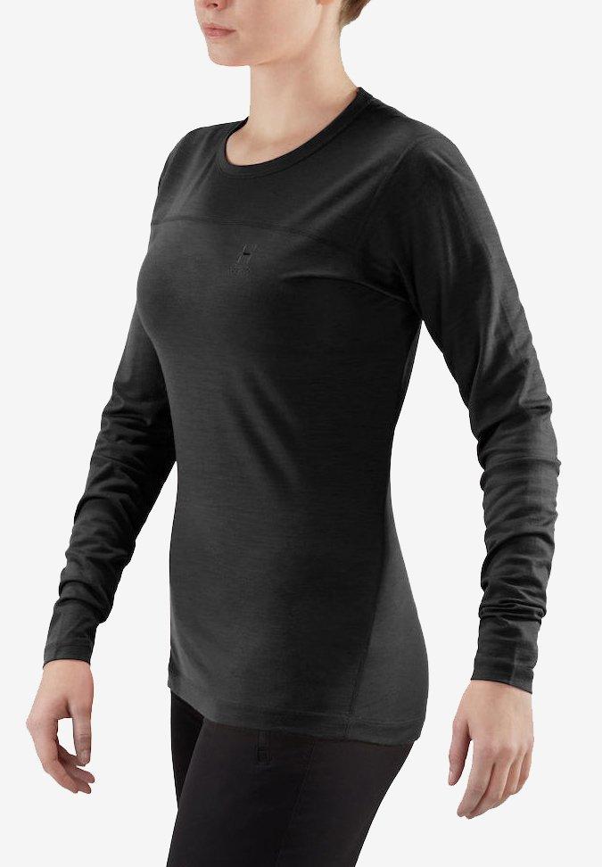 Haglöfs - ACTIVES WOOL ROUNDNECK  - Long sleeved top - true black