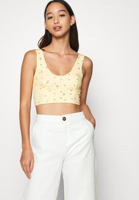 Monki - MOA SINGLET - Top - yellow - 3