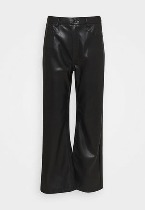HIGH WAIST PANTS - Bukse - black
