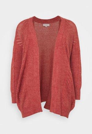 CARROSE CARDIGAN  - Cardigan - mineral red/ melange