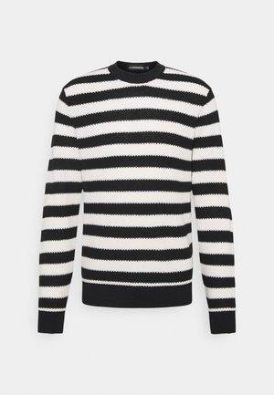 RICO STRIPED STRUCTURE - Stickad tröja - black