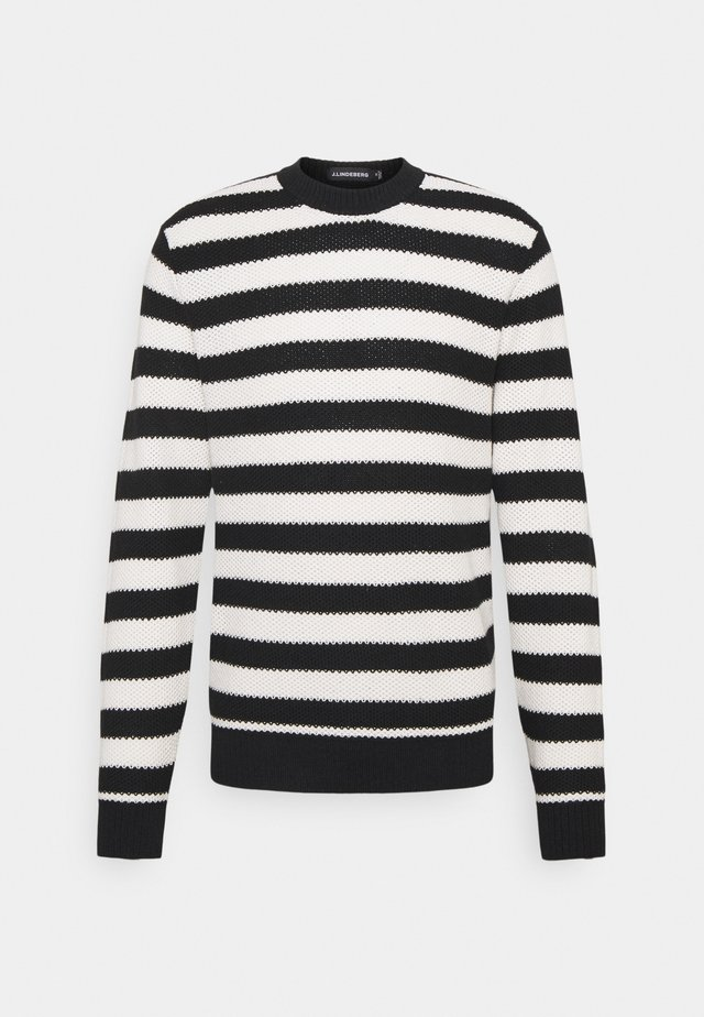 RICO STRIPED STRUCTURE - Sweter - black