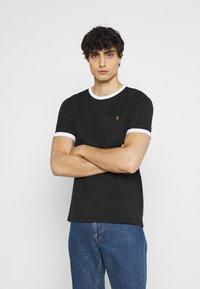 Farah - GROVES RINGER TEE - Basic T-shirt - deep black - 0