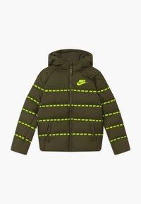 Nike Sportswear - UNISEX - Light jacket - cargo khaki/volt - 0