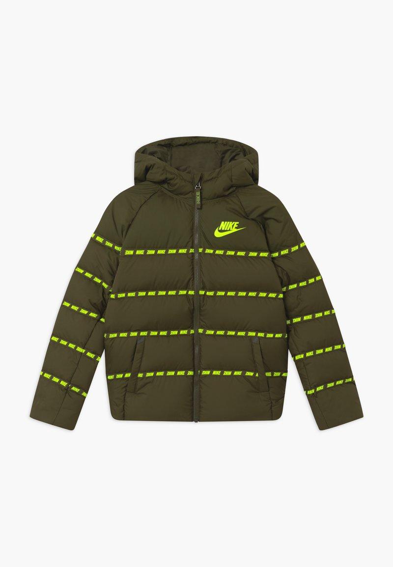 Nike Sportswear - UNISEX - Light jacket - cargo khaki/volt