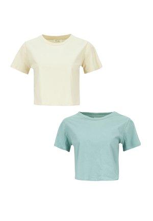 2 PACK - Basic T-shirt - beige