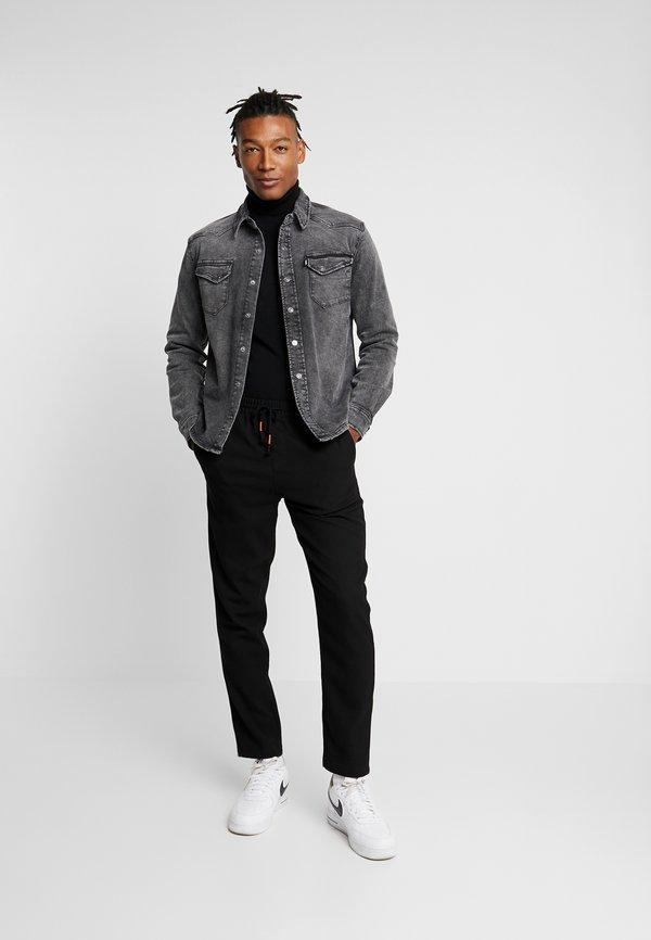 Tigha FRED USED - Koszula - vintage black/czarny denim Odzież Męska UPVB
