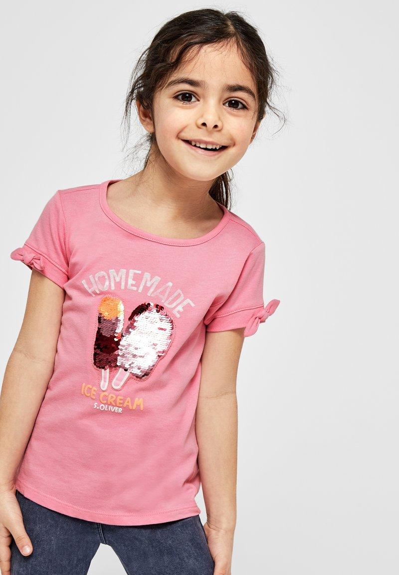 s.Oliver - Print T-shirt - pink