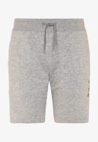 adidas Originals - LOGO - Tracksuit bottoms - medium grey heather/scarlet - 0