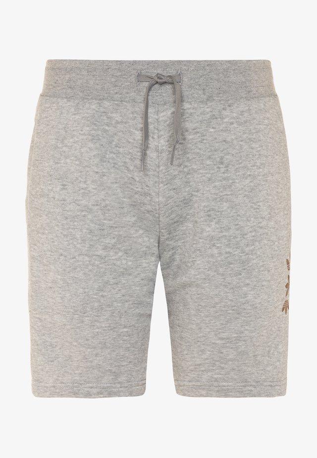 LOGO - Pantalon de survêtement - medium grey heather/scarlet
