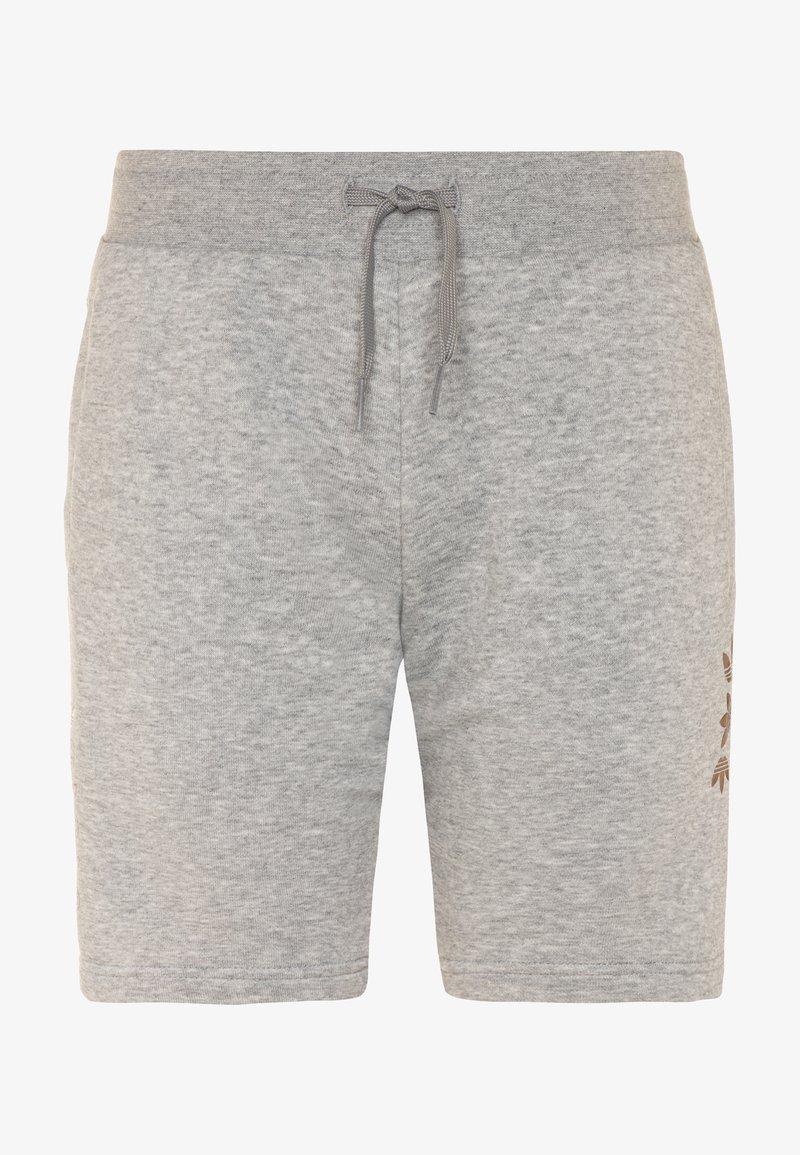 adidas Originals - LOGO - Tracksuit bottoms - medium grey heather/scarlet