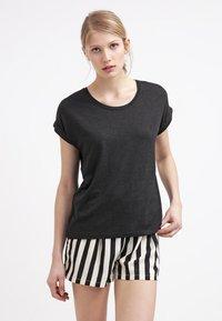 ONLY - ONLMOSTER ONECK - T-shirts - black - 0