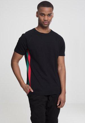 Print T-shirt - black/red