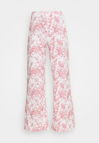 Missguided - PRINTED WIDE LEG TROUSER - Trousers - white - 3