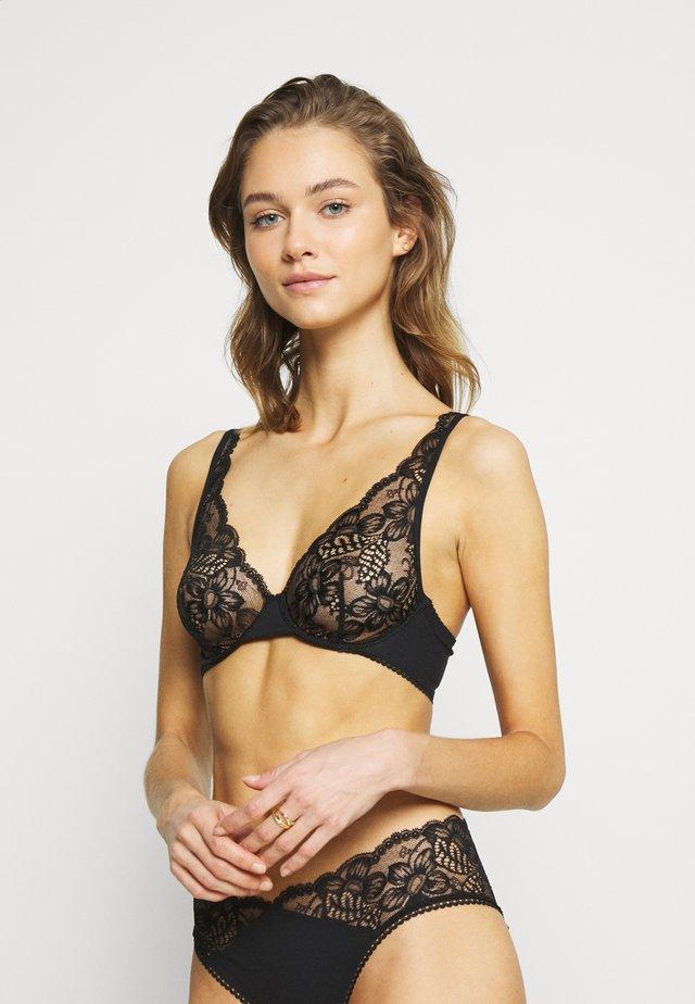 LAYLA UNDERWIRED BRA NO PADS - Triangle bra - black
