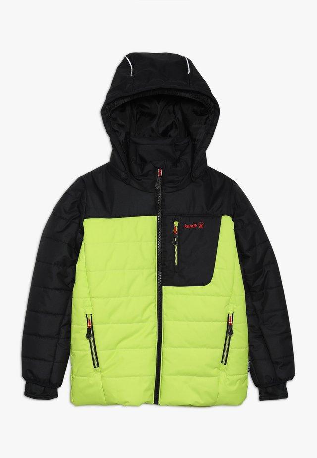 VAN - Veste de ski - neon yellow/black