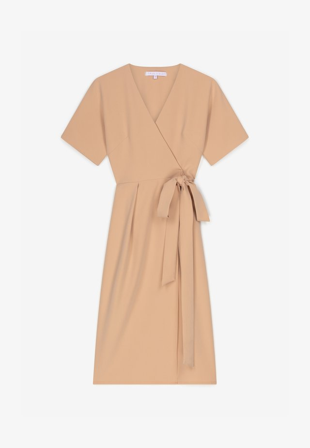 Korte jurk - tan