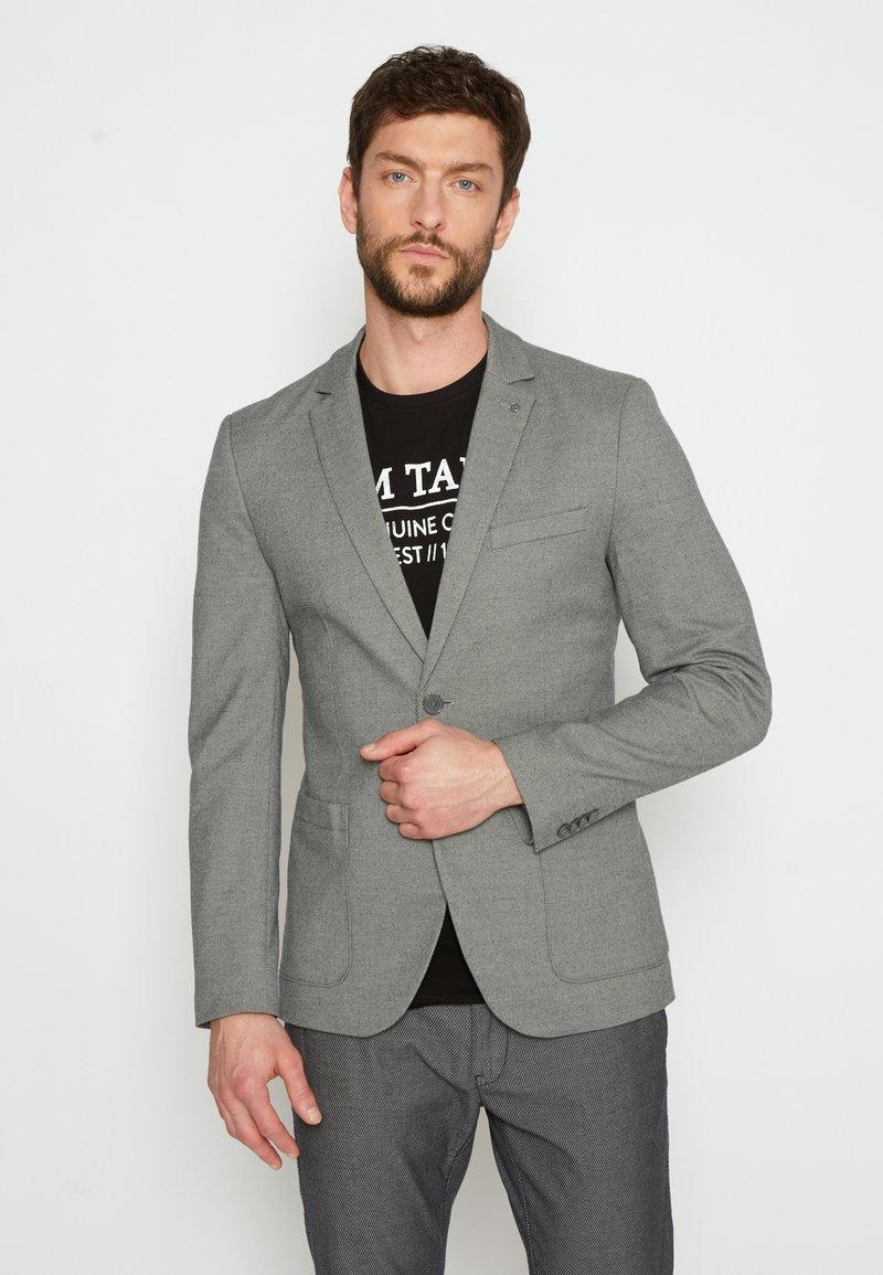 TOM TAILOR - DOBBY - Suit jacket - grey