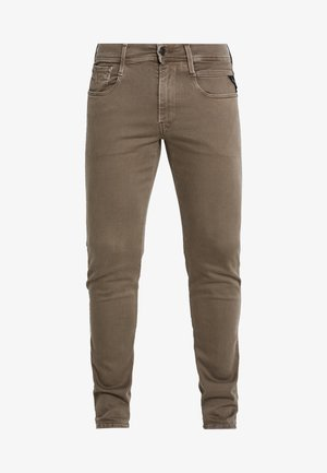 ANBASS HYPERFLEX - Slim fit jeans - brown