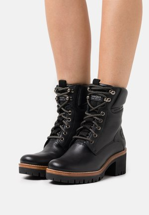 PAISLEY  - Lace-up ankle boots - black